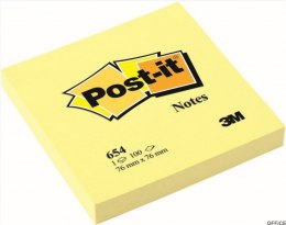 Bloczek 3M POST-IT 654 76x76mm żółte 100k FT510060518